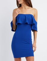 Charlotte Russe Ruffle Off-The-Shoulder Bodycon Dress
