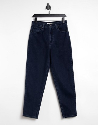 Levi's high waist tapered jeans in navy