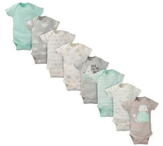 Gerber Baby Boy or Baby Girl Gender Neutral Onesies Short Sleeve Bodysuits, 8-Pack