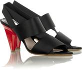 Satin elastic strappy sandals