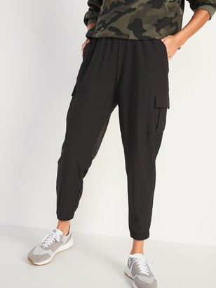 Old Navy High-Waisted StretchTech Mesh-Lined Jogger Cargo Pants for Women