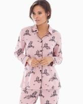 Soma Intimates Cotton Blend Pajama Top Fly Vintage Pink