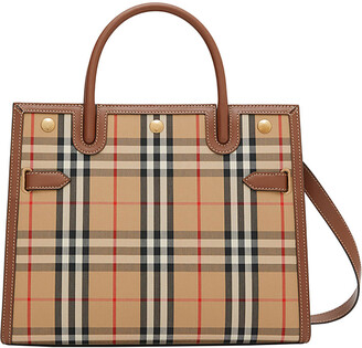 Burberry Small Vintage Check Title Bag
