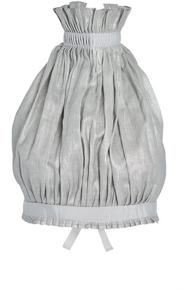 story. White Pleated Linen Halter Top