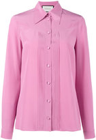 Gucci pleated silk blouse - women - Silk - 38