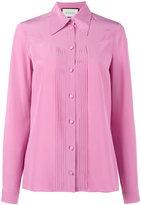 Gucci pleated silk blouse - women - Silk - 42