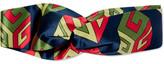 Gucci Twisted Printed Silk-satin Headband