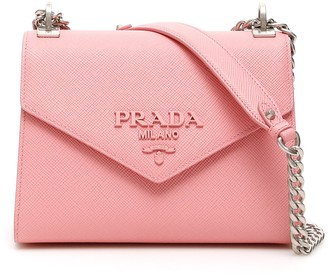 Prada Logo Plaque Envelope Shoulder Bag