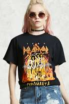 Forever 21 FOREVER 21+ Distressed Def Leppard Band Tee