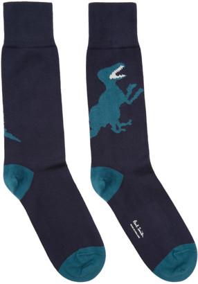 Paul Smith Navy Big Dino Socks