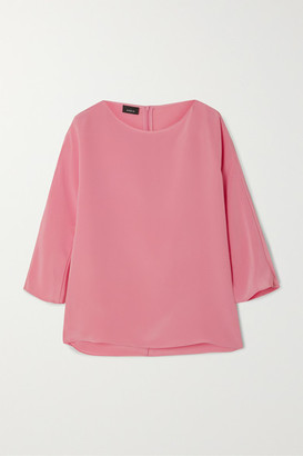 Akris Silk Crepe De Chine Top - Pink