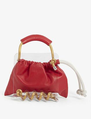 Scotria Berg Bag plexiglass and leather tote
