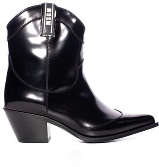 MSGM Black Cowboy Boot