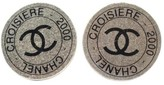 Chanel Si;ver Tone Hardware Croisiere 2000 Clip On Earrings