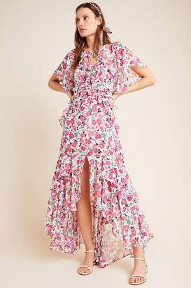 MISA Stasia Floral Maxi Dress By in Assorted Size S