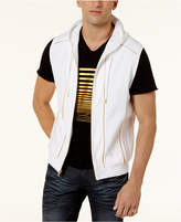 INC International Concepts I.N.C. Men's Gold Piping Hooded Vest, Created for Macy's