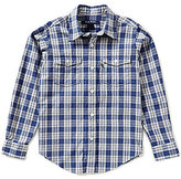 Brooks Brothers Little/Big Boys 4-20 Non-Iron Chambray Plaid Woven Shirt