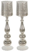"""A&B Home Antique Silver Candle Holder - 18"""""""