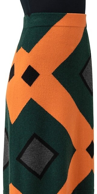 Thumbnail for your product : Akris Cashmere Intarsia A-Line Skirt
