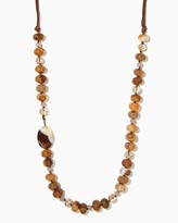 Charming charlie Antonia Stone Leather Necklace
