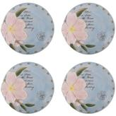 Fitz & Floyd 4 Toulouse Round Appetizer Plates - Green
