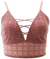 Charlotte Russe Plus Size Lace Lattice-Front Bralette