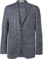 Boglioli - Blue K-jacket Slim-fit Checked Woven Blazer