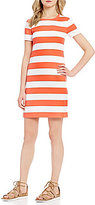 MICHAEL Michael Kors Rugby Stipe Knit Jersey T-Shirt Dress