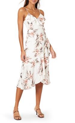 MinkPink Tahiti Holiday Sleeveless Wrap Dress