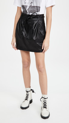 Amanda Uprichard Claire Faux Leather Skirt