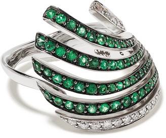 Brumani 18kt white gold Buriti emerald and diamond ring