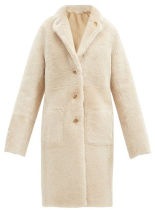 Joseph Brittany Reversible Shearling And Leather Coat - Cream
