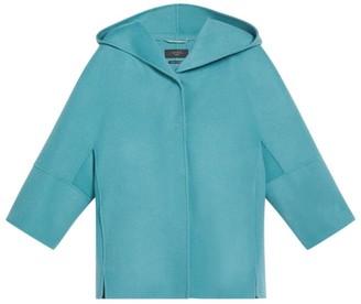 Max Mara Virgin Wool Hooded Rapace Coat