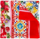 Dolce & Gabbana 'Carretto Con Rose' scarf - kids - Viscose/Cashmere - One Size