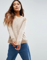Shae Zig Zag Diamond Sweater