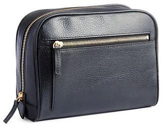 Royce New York Genuine Leather Zip Toiletry Bag