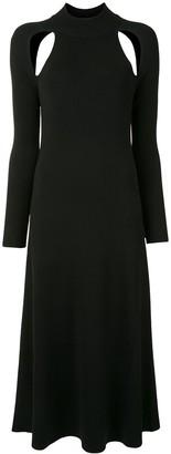 Rokh Ribbed-Knit Midi Dress