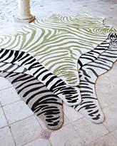 Horchow Maya Zebra Indoor/Outdoor Rug, 5' x 8'