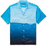 Blue Blue Japan Camp-Collar Printed Lyocell Shirt