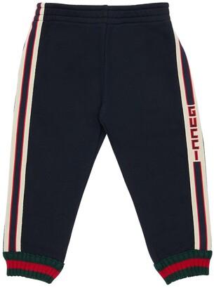 Gucci Logo Bands Cotton Sweatpants