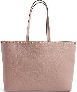 Valentino Garavani Leather Rockstud Tote Bag