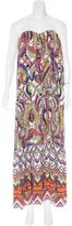 MSGM Printed Strapless Dress