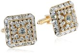 Stacy Adams Men's Multi Crystal Gold Cuff Link