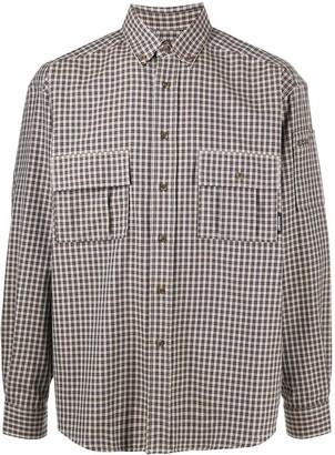 Paccbet Plaid Print Button-Down Shirt