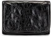 Saint Laurent Credit Card Wallet in Black | FWRD