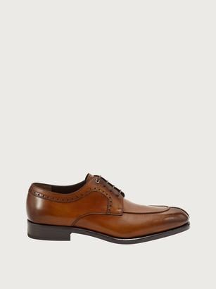 Salvatore Ferragamo Men Gancini Derby Shoe Yellow Size 7