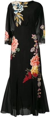 Etro Embroidered Floral Dress