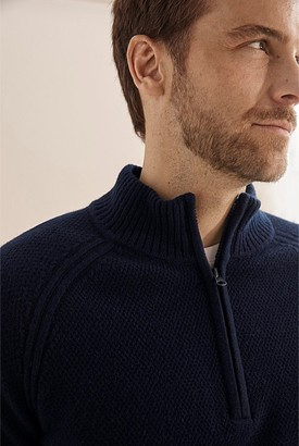 Country Road Lambswool Half Zip Knit