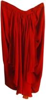 Chloé Red Silk Skirt