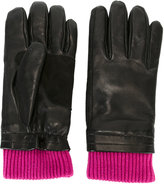 Ami Alexandre Mattiussi leather gloves - men - Lamb Skin/Wool - 8